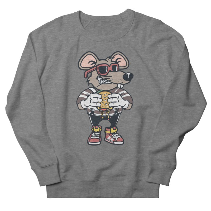 Rat Burglar Men's French Terry Sweatshirt by WackyToonz