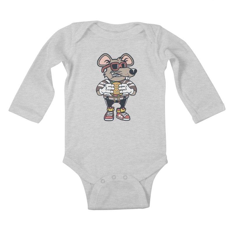 Rat Burglar Kids Baby Longsleeve Bodysuit by WackyToonz