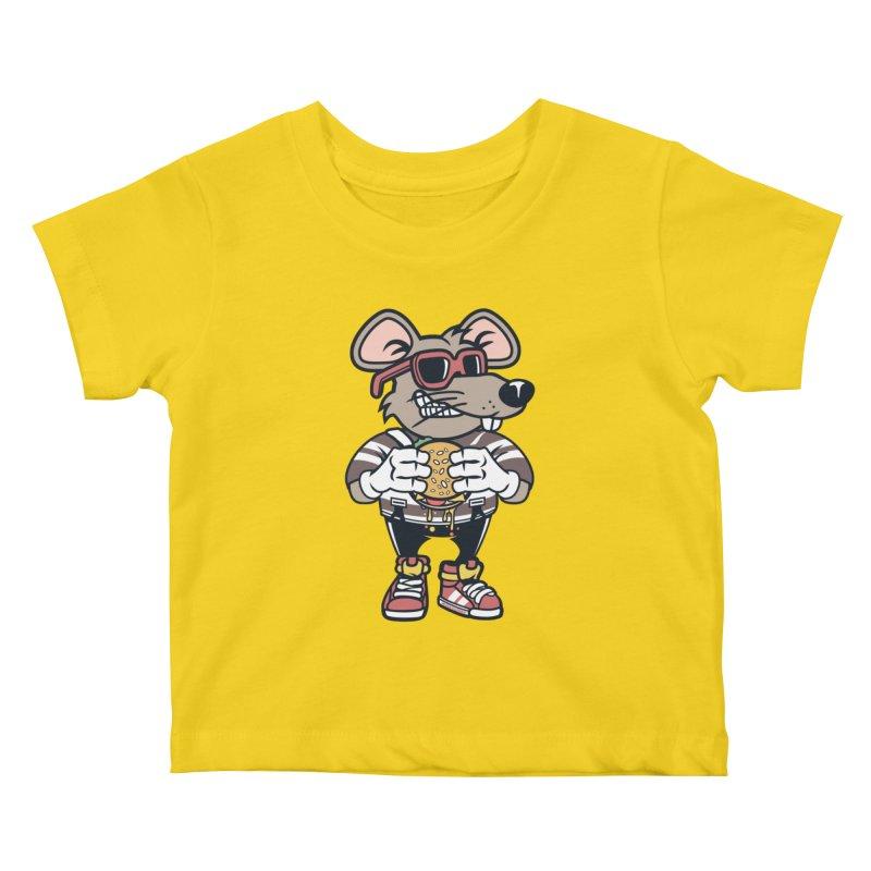 Rat Burglar Kids Baby T-Shirt by WackyToonz