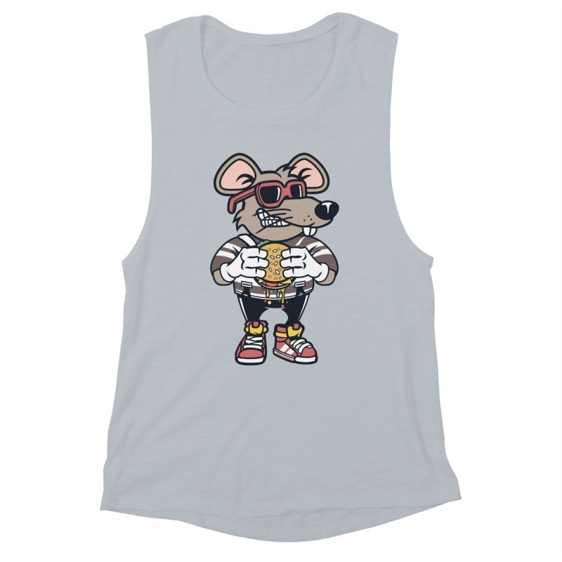 Rat Burglar Women's Muscle Tank by WackyToonz