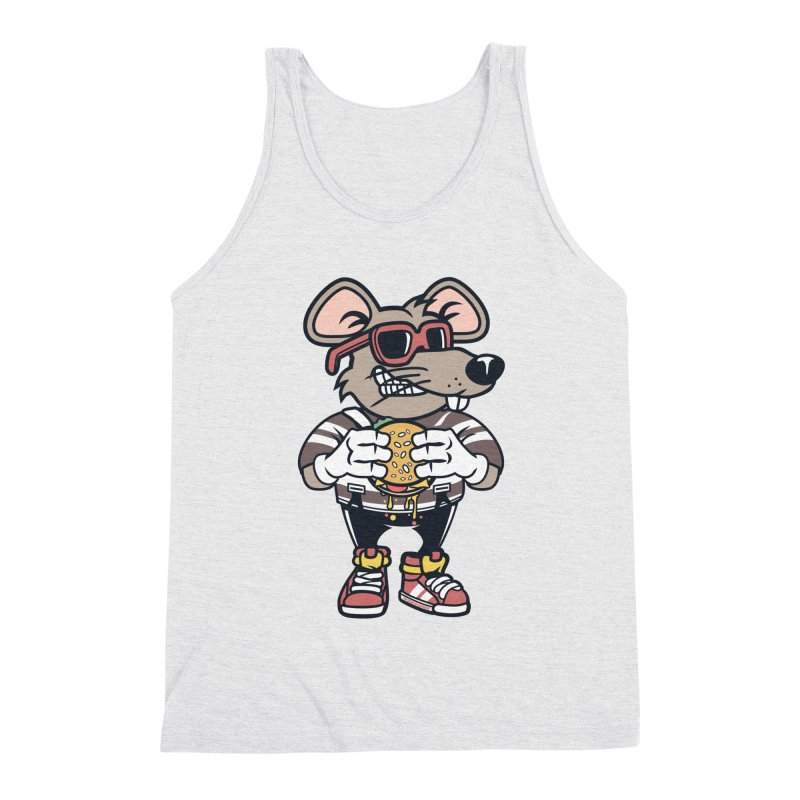 Rat Burglar Men's Triblend Tank by WackyToonz