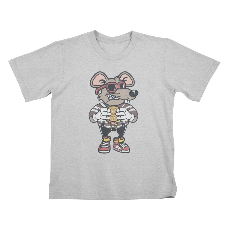 Rat Burglar Kids T-Shirt by WackyToonz