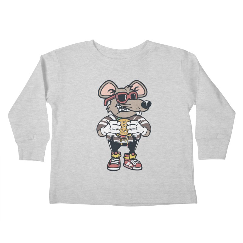 Rat Burglar Kids Toddler Longsleeve T-Shirt by WackyToonz