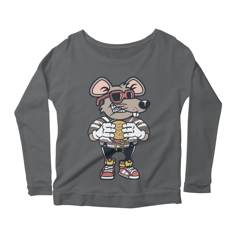 Rat Burglar Women's Scoop Neck Longsleeve T-Shirt by WackyToonz