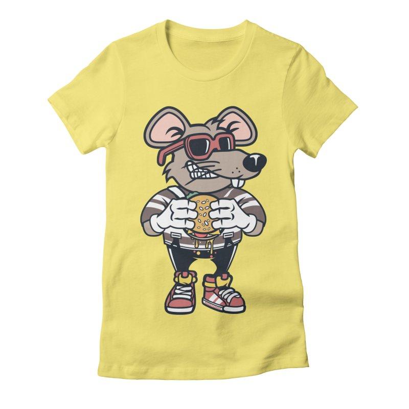 Rat Burglar Women's Fitted T-Shirt by WackyToonz