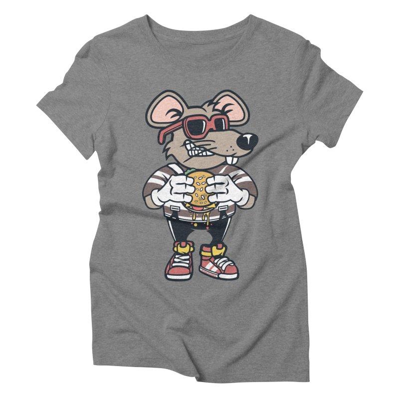 Rat Burglar Women's Triblend T-Shirt by WackyToonz