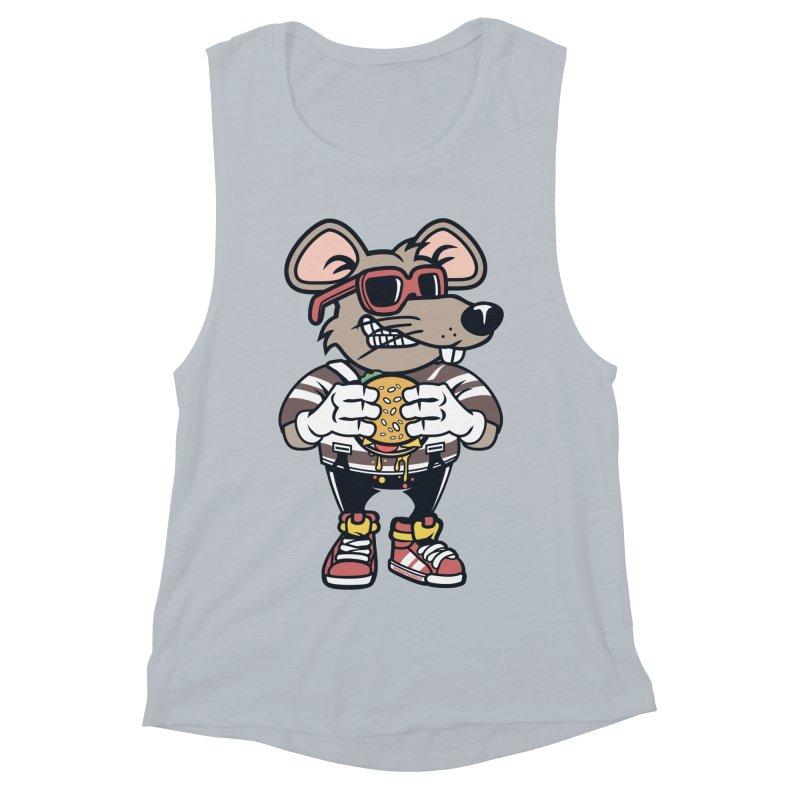 Rat Burglar Women's Muscle Tank by WackyToonz