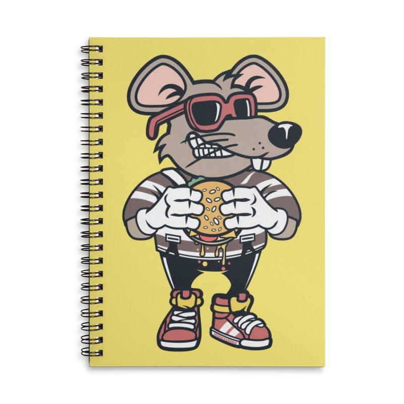Rat Burglar Accessories Lined Spiral Notebook by WackyToonz