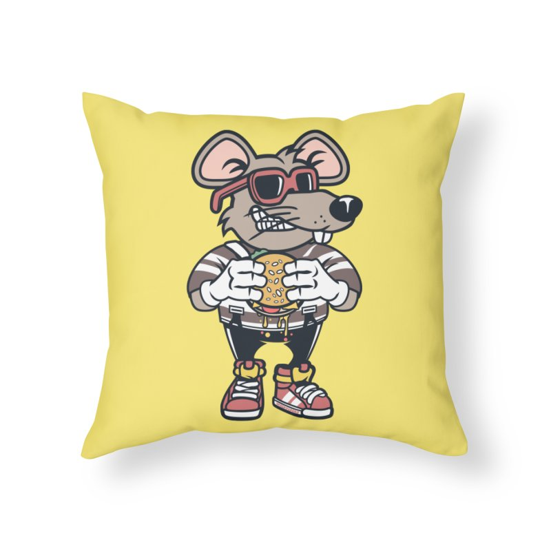 Rat Burglar Home Throw Pillow by WackyToonz