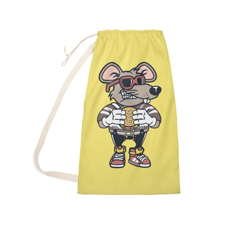 Rat Burglar Accessories Laundry Bag Bag by WackyToonz