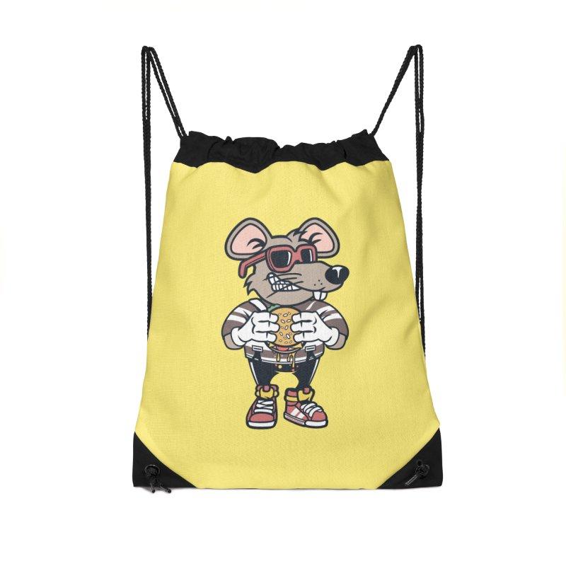 Rat Burglar Accessories Drawstring Bag Bag by WackyToonz