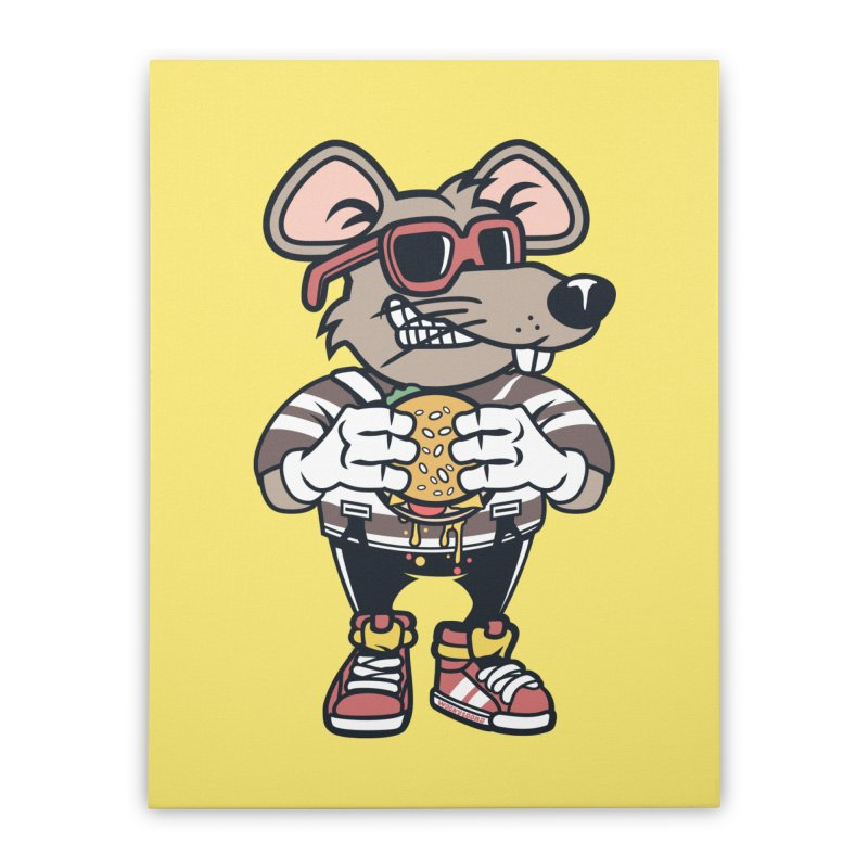 Rat Burglar Home Stretched Canvas by WackyToonz