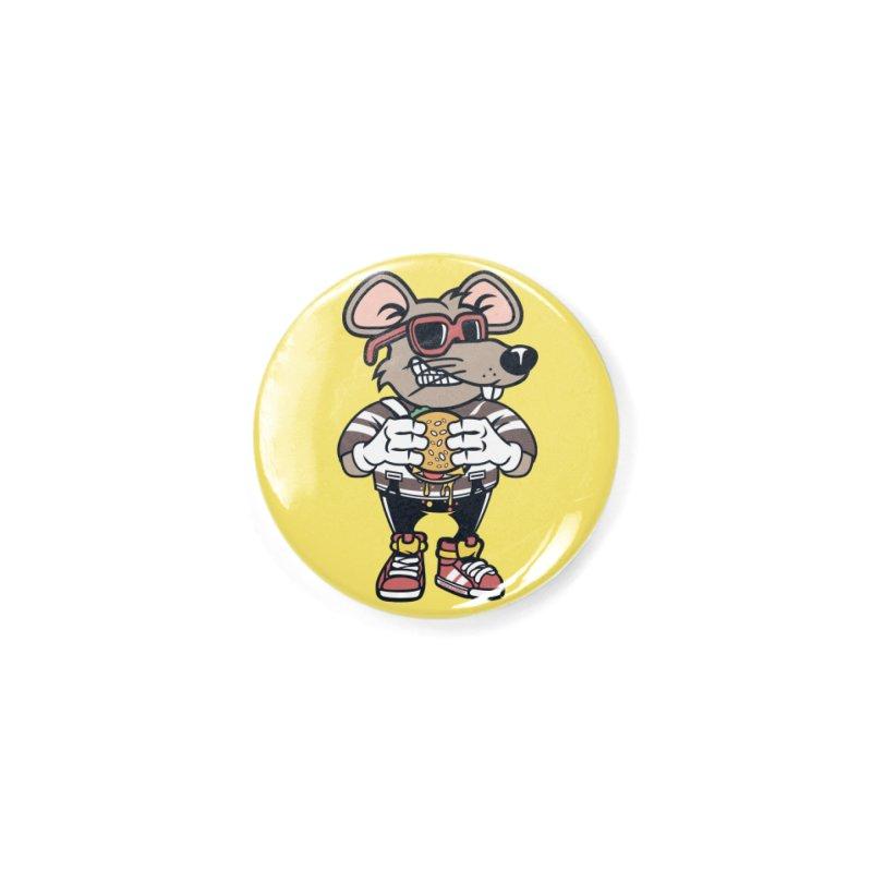 Rat Burglar Accessories Button by WackyToonz