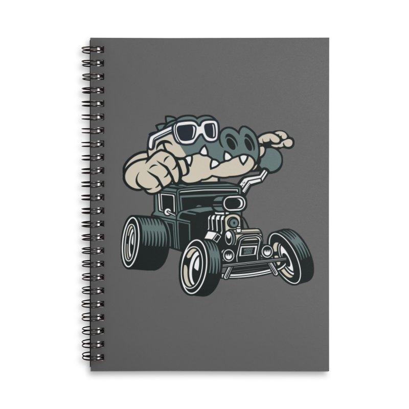 Swamp Rod Accessories Lined Spiral Notebook by WackyToonz