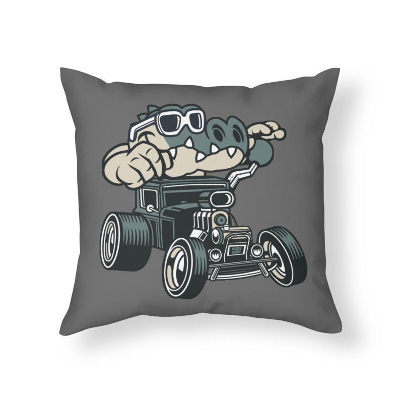 Swamp Rod Home Throw Pillow by WackyToonz
