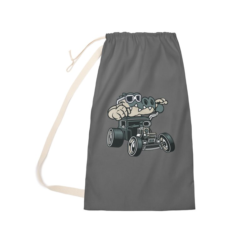 Swamp Rod Accessories Laundry Bag Bag by WackyToonz