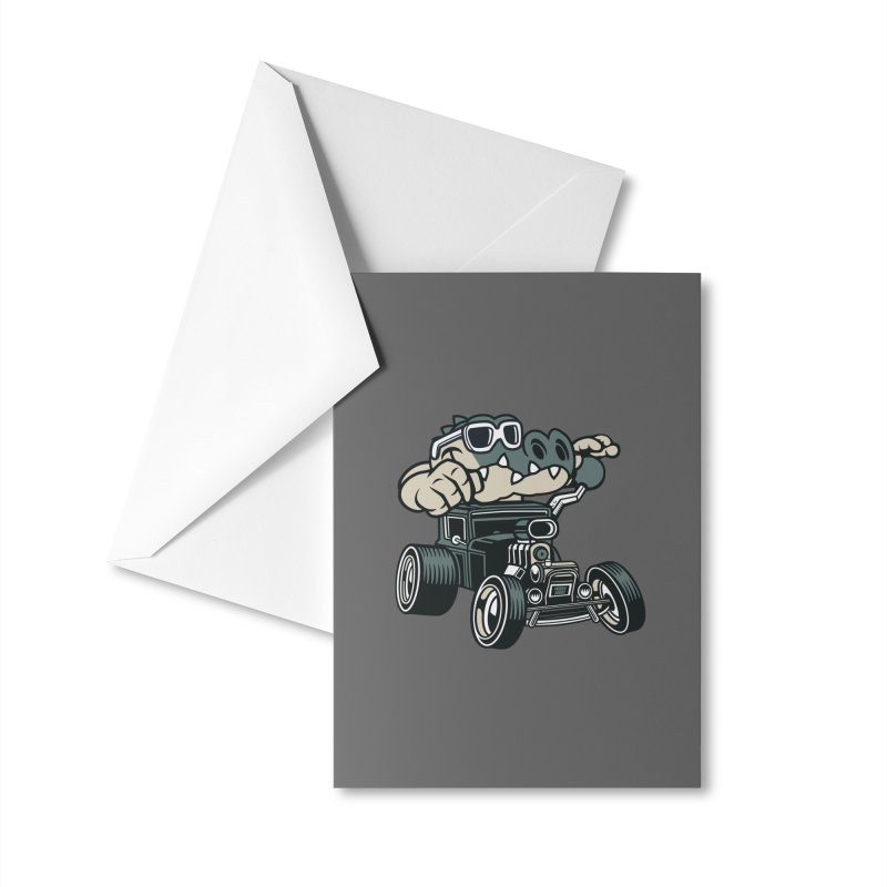 Swamp Rod Accessories Greeting Card by WackyToonz