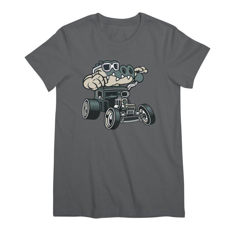 Swamp Rod Women's Premium T-Shirt by WackyToonz