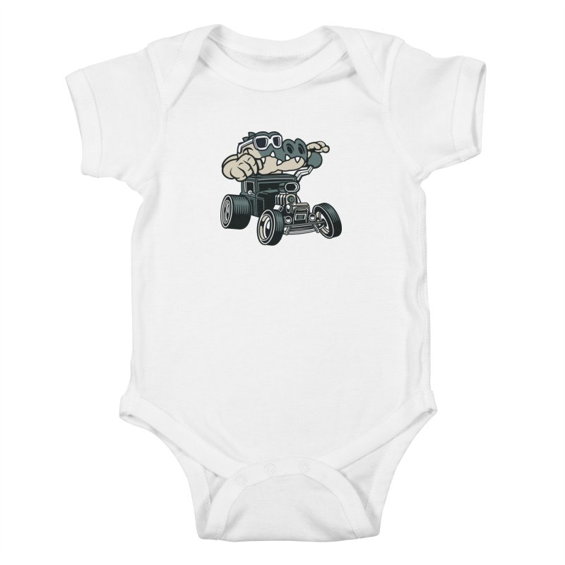 Swamp Rod Kids Baby Bodysuit by WackyToonz