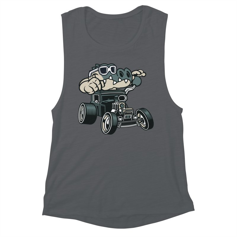 Swamp Rod Women's Muscle Tank by WackyToonz