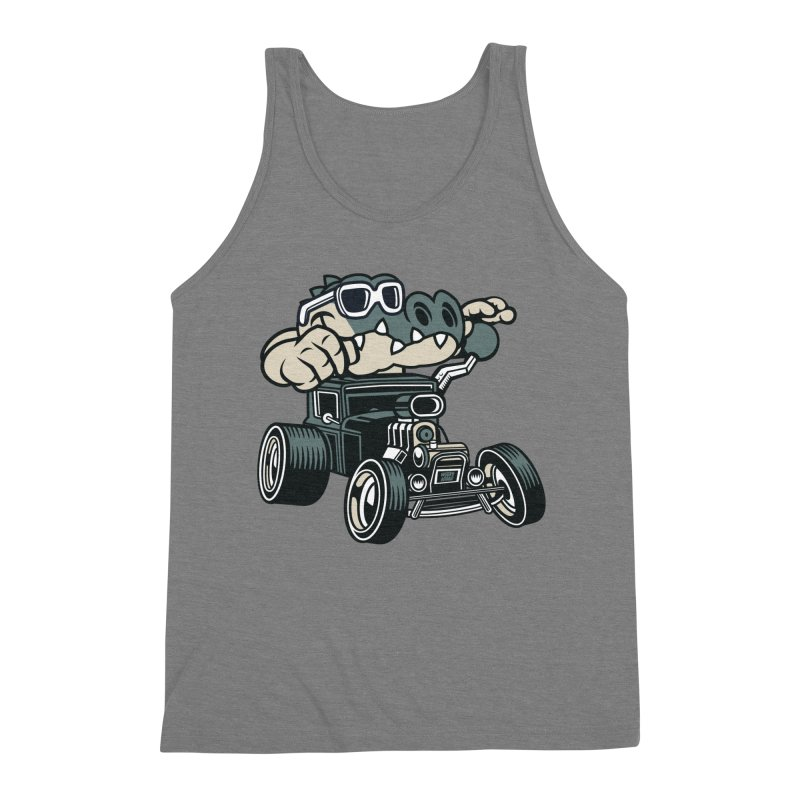 Swamp Rod Men's Triblend Tank by WackyToonz