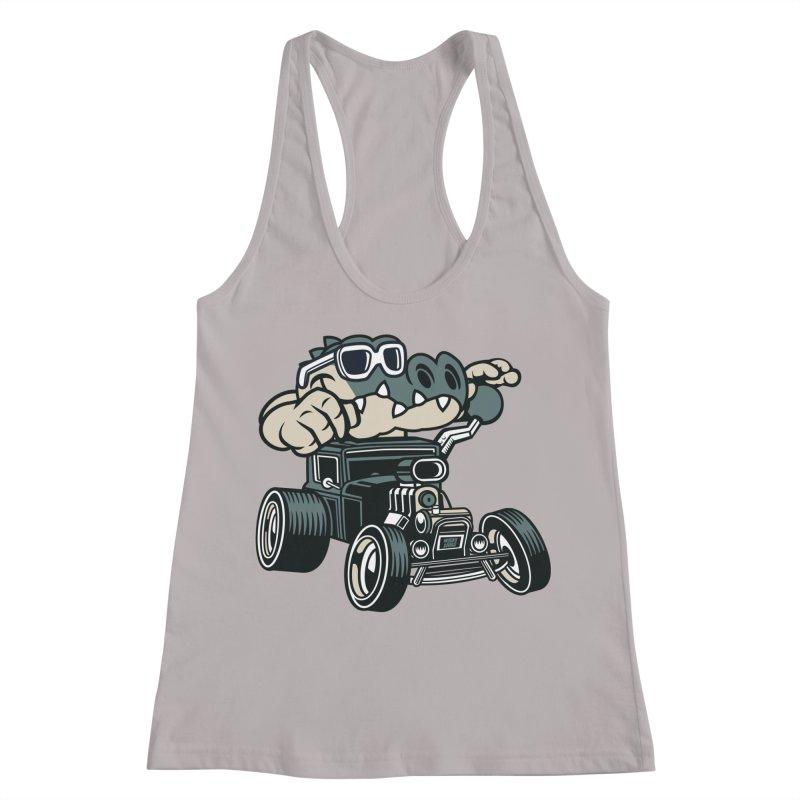Swamp Rod Women's Racerback Tank by WackyToonz