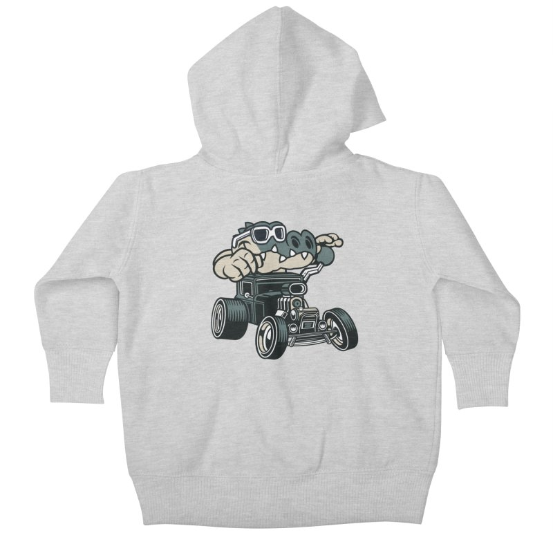 Swamp Rod Kids Baby Zip-Up Hoody by WackyToonz