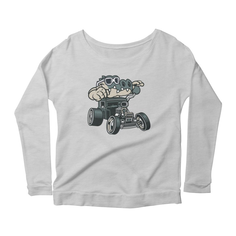 Swamp Rod Women's Scoop Neck Longsleeve T-Shirt by WackyToonz