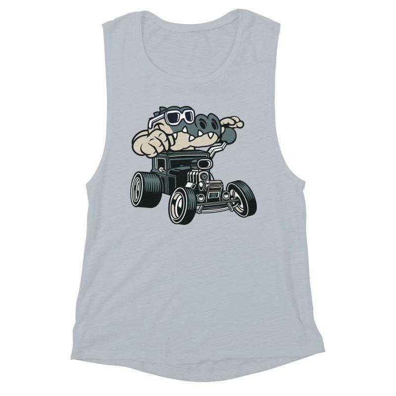 Swamp Rod Women's Muscle Tank by WackyToonz