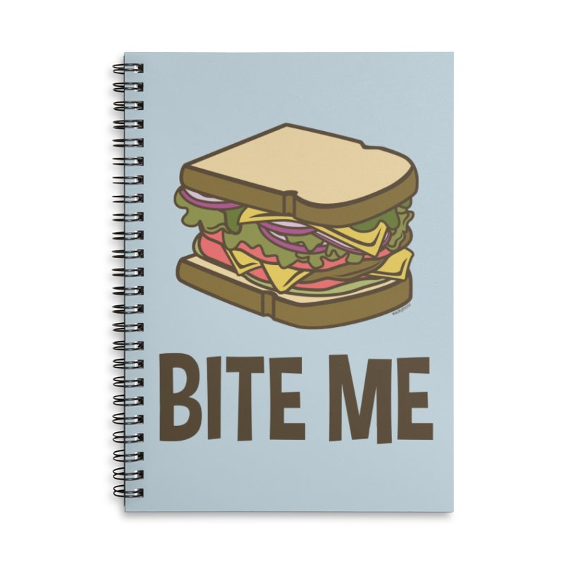 Bite Me Accessories Lined Spiral Notebook by WackyToonz