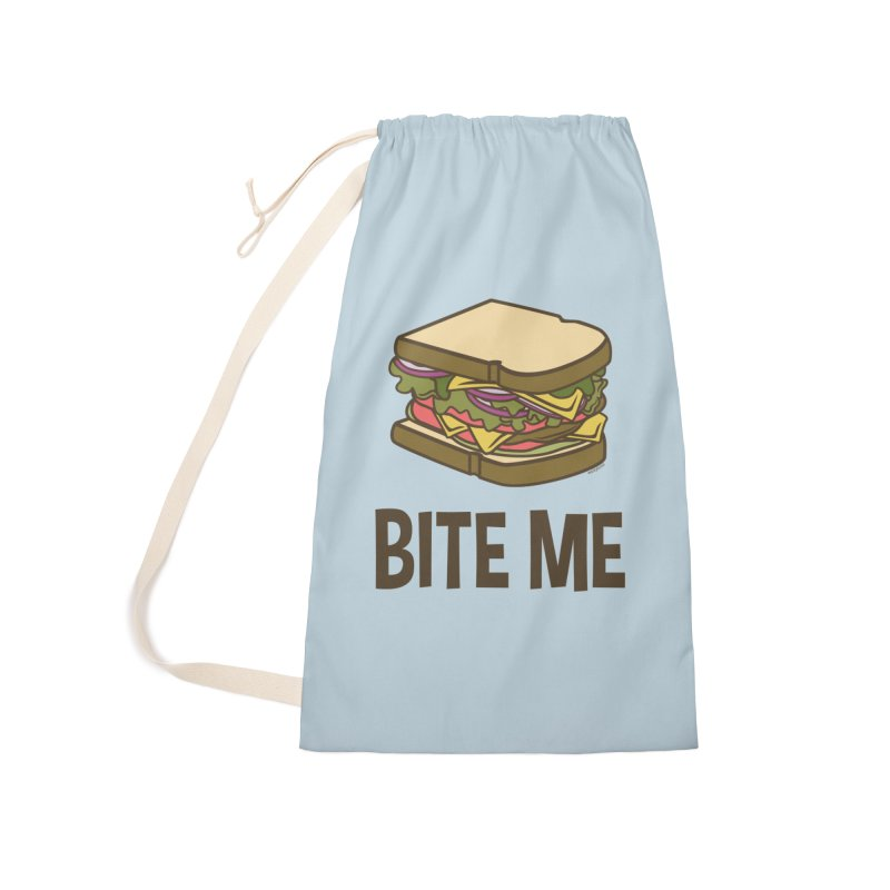 Bite Me Accessories Laundry Bag Bag by WackyToonz