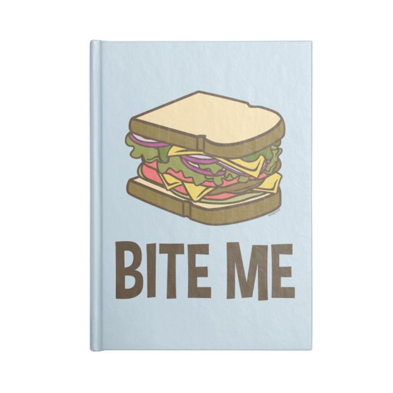 Bite Me Accessories Lined Journal Notebook by WackyToonz