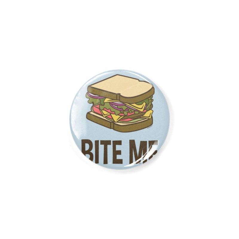 Bite Me Accessories Button by WackyToonz