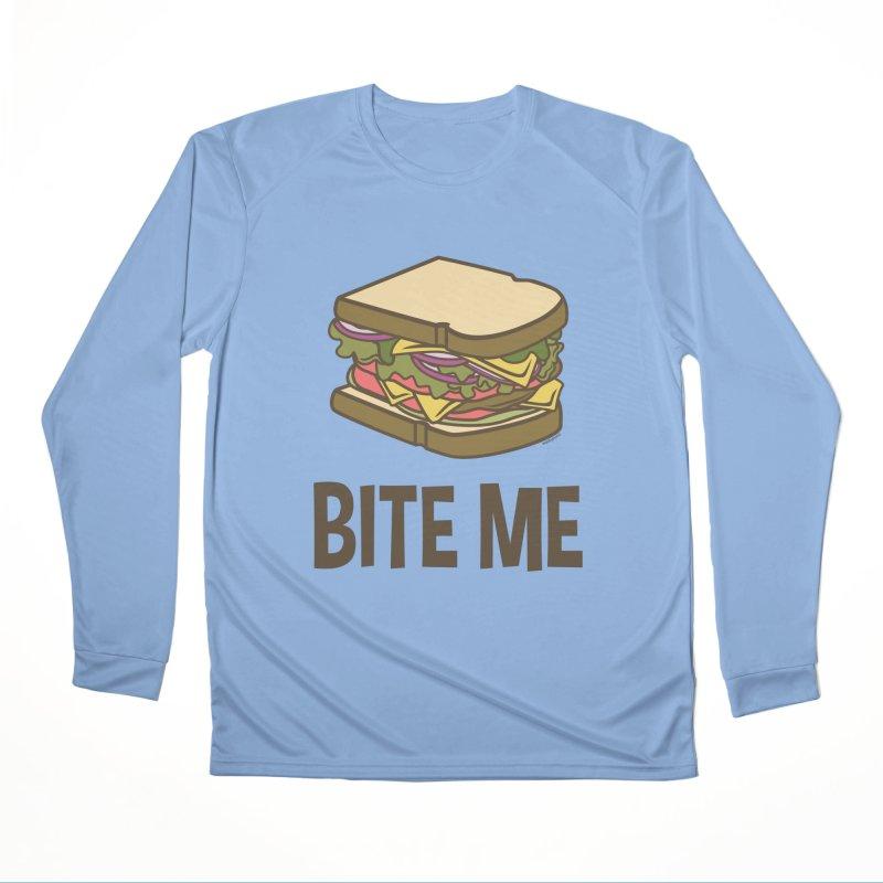 Bite Me Women's Performance Unisex Longsleeve T-Shirt by WackyToonz