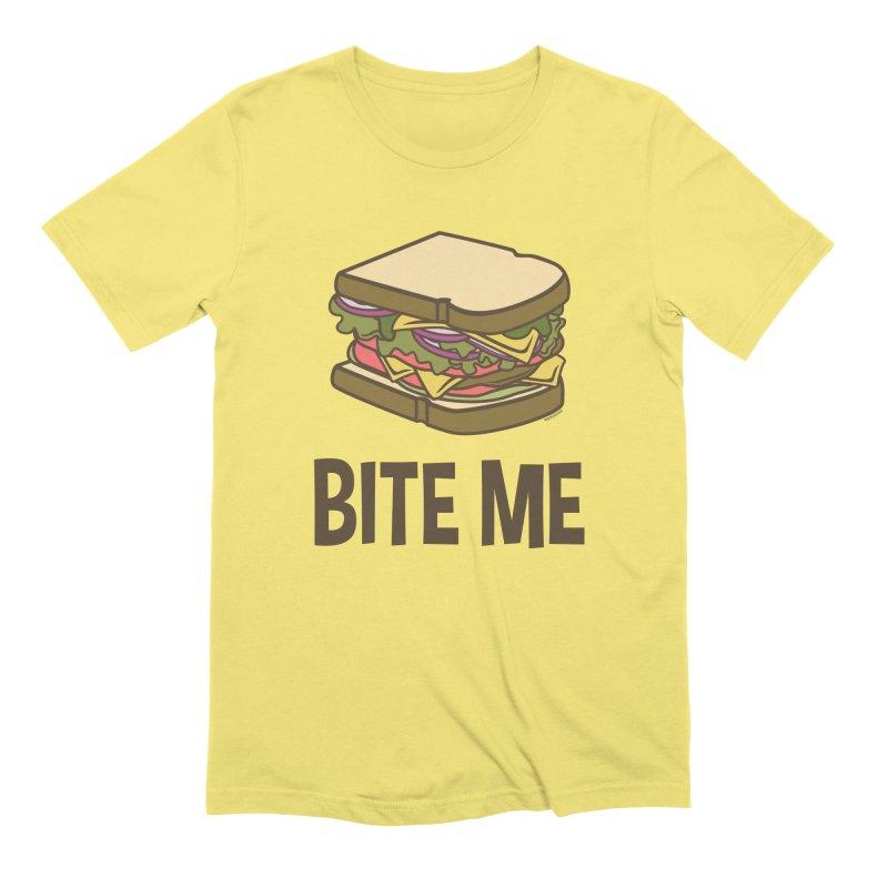Bite Me Men's Extra Soft T-Shirt by WackyToonz