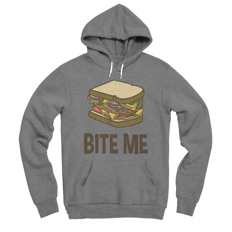 Bite Me Women's Sponge Fleece Pullover Hoody by WackyToonz