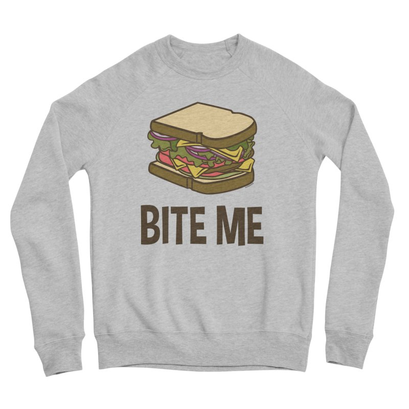 Bite Me Men's Sponge Fleece Sweatshirt by WackyToonz
