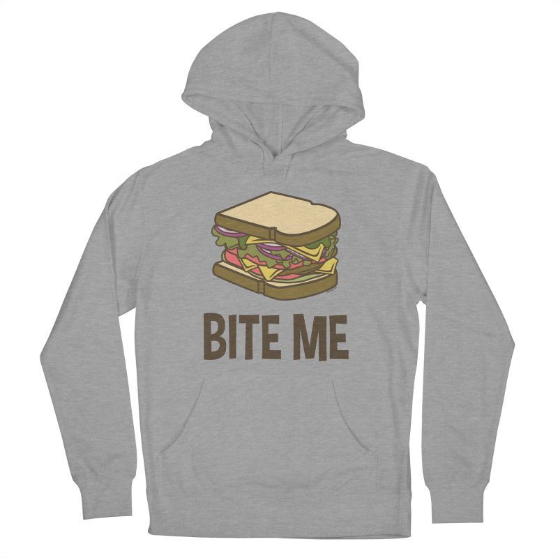 Bite Me Men's French Terry Pullover Hoody by WackyToonz