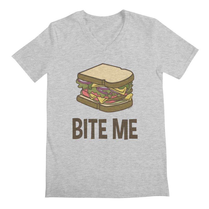 Bite Me Men's Regular V-Neck by WackyToonz