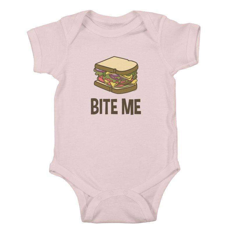 Bite Me Kids Baby Bodysuit by WackyToonz