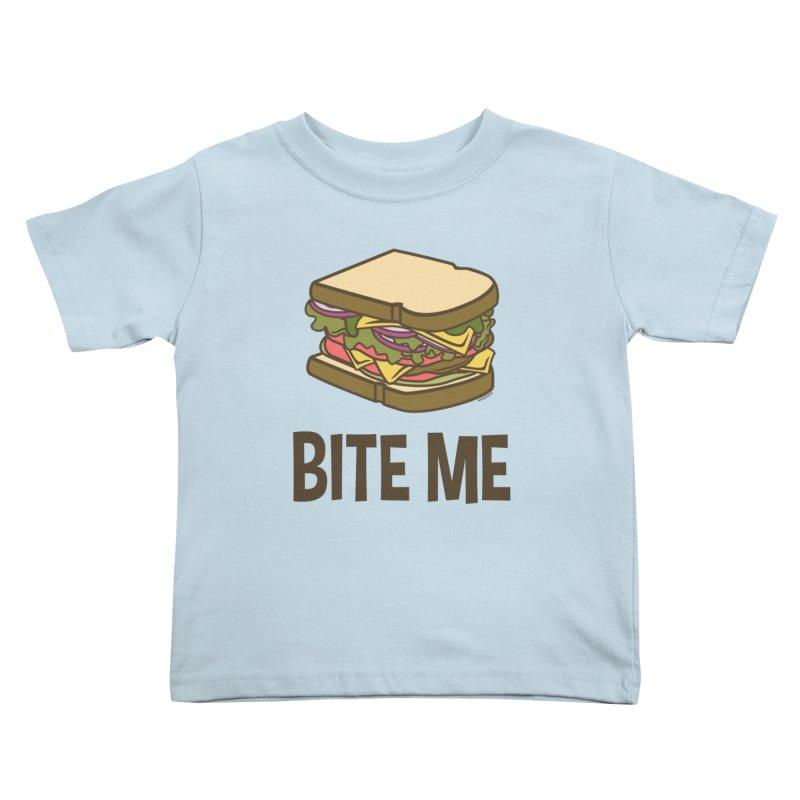 Bite Me Kids Toddler T-Shirt by WackyToonz