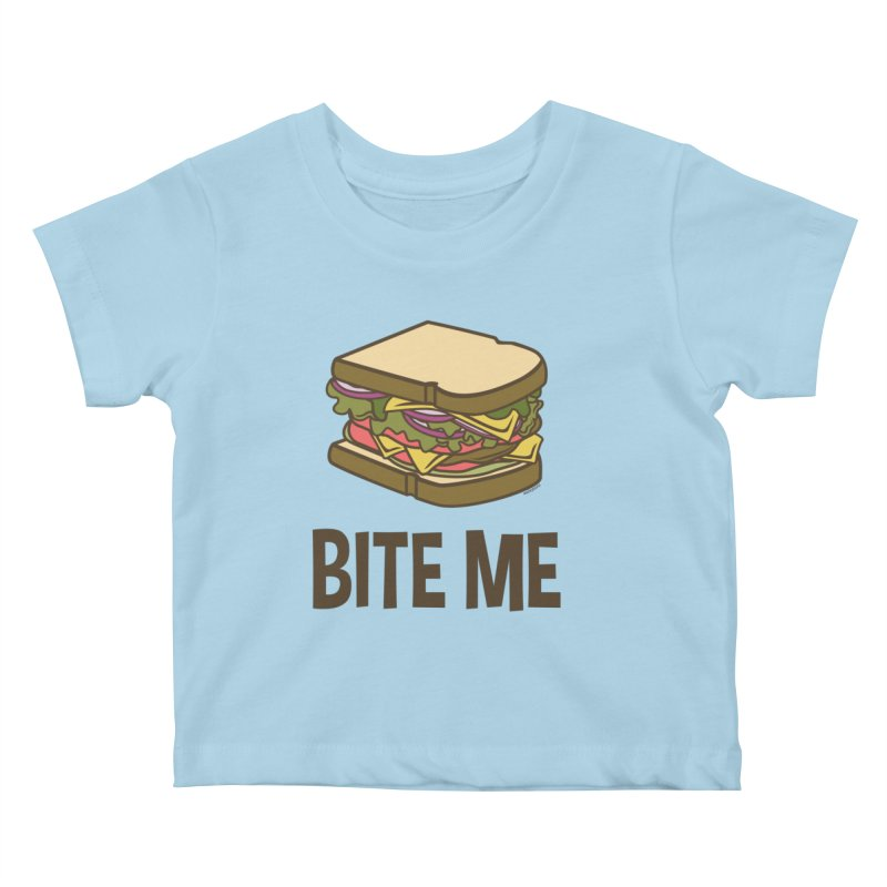 Bite Me Kids Baby T-Shirt by WackyToonz