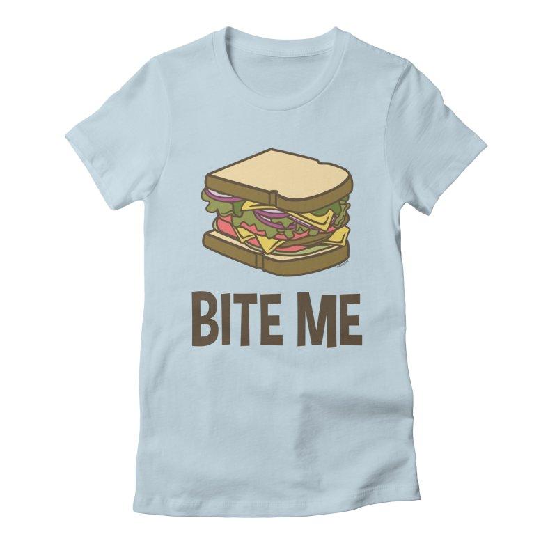 Bite Me Women's T-Shirt by WackyToonz