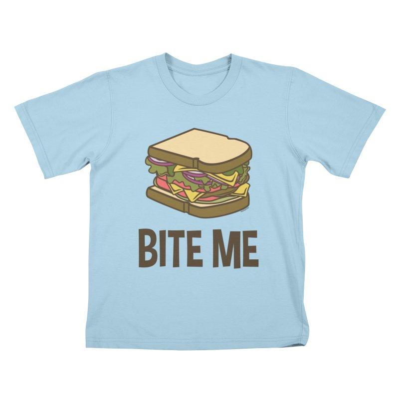 Bite Me Kids T-Shirt by WackyToonz