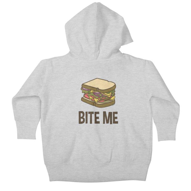 Bite Me Kids Baby Zip-Up Hoody by WackyToonz