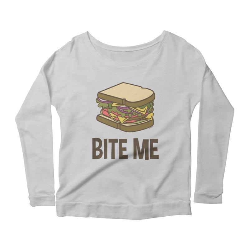 Bite Me Women's Scoop Neck Longsleeve T-Shirt by WackyToonz