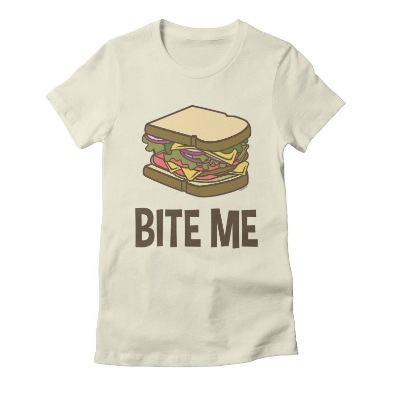 Bite Me Women's Fitted T-Shirt by WackyToonz