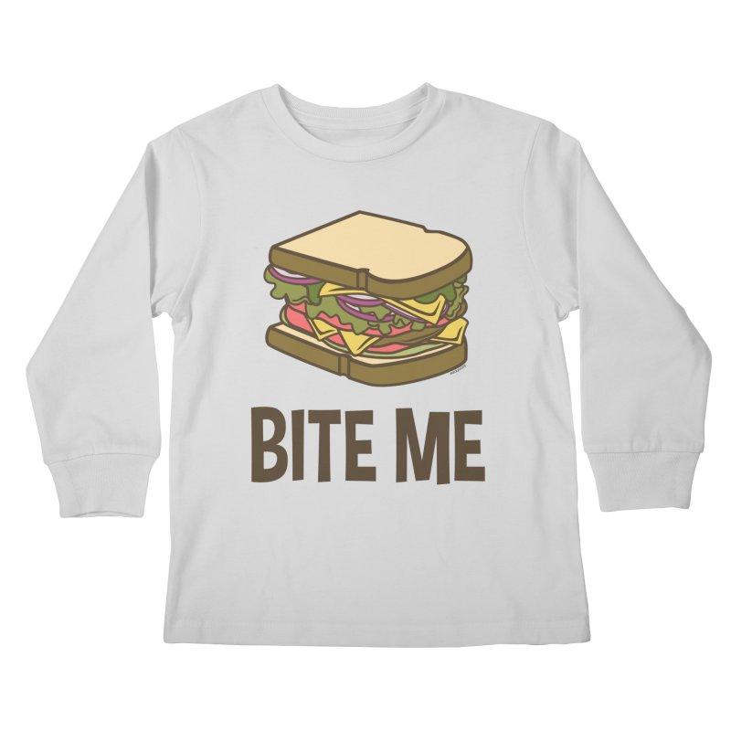 Bite Me Kids Longsleeve T-Shirt by WackyToonz