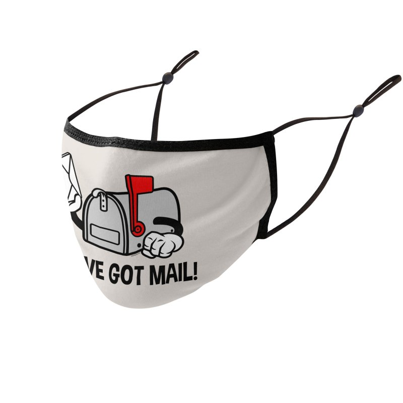 You've Got Mail Accessories Face Mask by WackyToonz