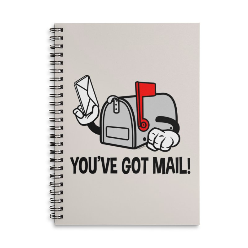 You've Got Mail Accessories Lined Spiral Notebook by WackyToonz